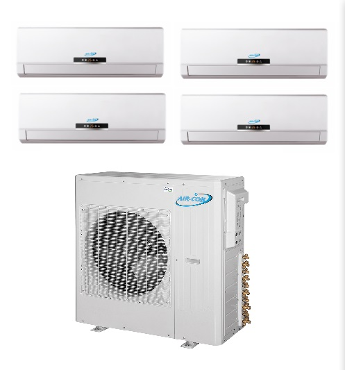 Aircon Quad Zone 4x12000 Btu 21 Seer Mini Split Heat Pump Ac The